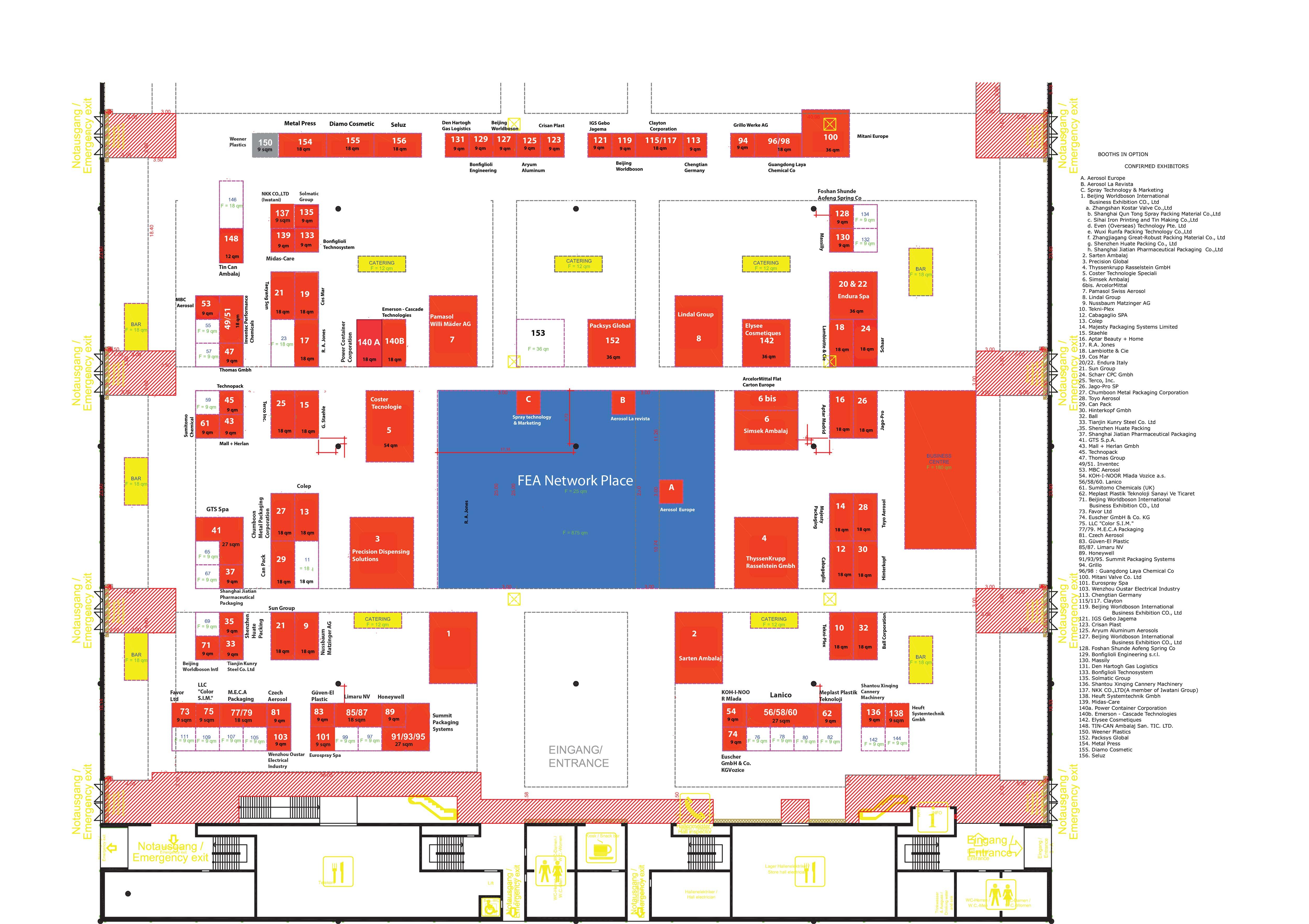 Exhibition floormap