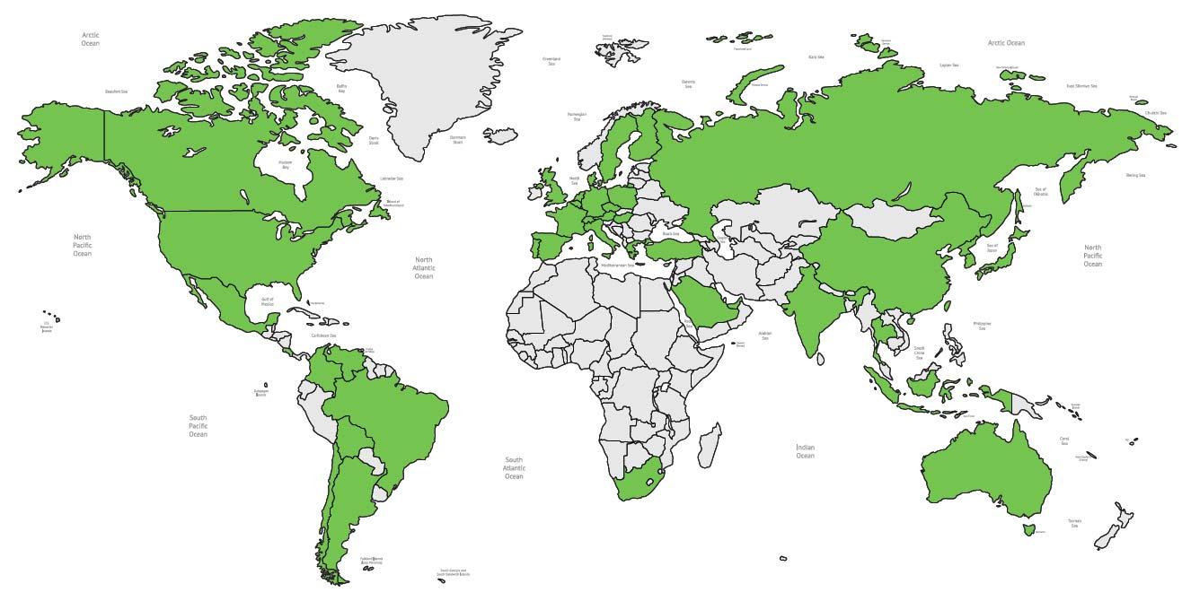 40 countries & 1500 participants